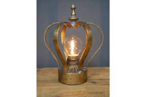 Gold Crown Light, Battery Operated Lamp, Vintage Shabby Chic