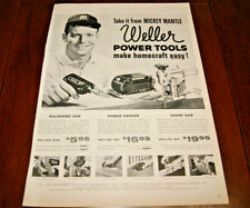 Vintage Print AD Art 1960's Mickey Mantle Baseball New York Yankees  10 x 13