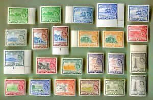 St Christopher Nevis Anguilla 1954 QEII cmltd DEFS 23v  MNH CV £100 +