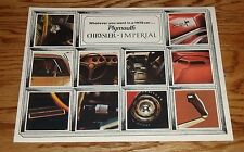 1970 Plymouth Chrysler Imperial Fl Sales Brochure 70 Barracuda Road Runner GTX