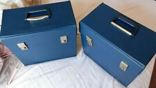 VINTAGE RECORD CASES FAB 60--70'S  VERY GOOD CONDITION BLUE