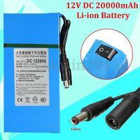 122000 DC 12V 20000mAh Rechargeable Mini Protable Li-ion Battery For CCTV Camera