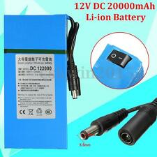 122000 DC 12V 20000mAh Rechargeable Mini Protable Li-ion Battery For CCTV Camera