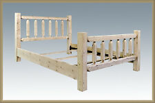 Farmhouse Style QUEEN Bed Frame Timberframe Amish Made Furniture Lodge Cabin
