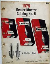 1975 Champion Dealer Master Catalog No. 5 World's Number 1 Seller (Turbo-Action)