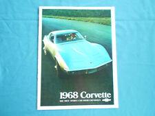 Chevrolet Corvette 1968 , Prospekt, englisch