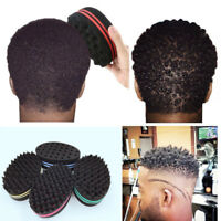 Double Sided Barber Hair Brush Sponge Locking Twists Curly Wave Styling Magic US
