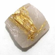 Golden Rutile Star on Quartz Crystal Slice  Novo Horizonte Bahia Brazil MSC651
