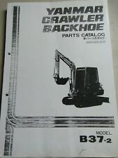 YANMAR Excavator Backhoe B37-2 Parts Manual