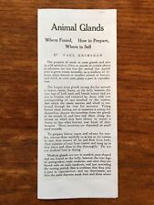 TRAPPING PAMPHLET  ANIMAL GLANDS  WHERE FOUND  HOW TO PREPARE & WHERE TO SELL