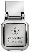 NEW Vanderbilt University Star Logo ENGRAVED SILVER MONEY CLIP Commodores Vandy