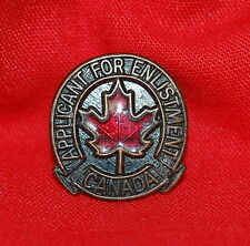 Canada Applicant for Enlistment service lapel pin badge