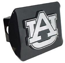 Auburn Black Metal Hitch Cover (NEW) AU Chrome Logo Tigers Trailer Cap MVP