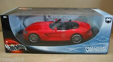 Hot Wheels Dodge Viper SRT-10 Red Convert Sport Car Die Cast 1:18 Scale MINT NEW