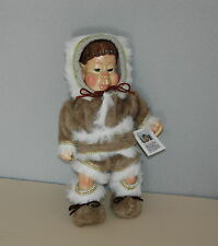 "2002 Naber Kids Kenai #350 Handcrafted  Doll Certificate 16"" Wood HSN Limited Ed"