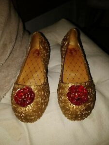 Girls Disney Store Belle Dressing Up Shoes Size 11/12