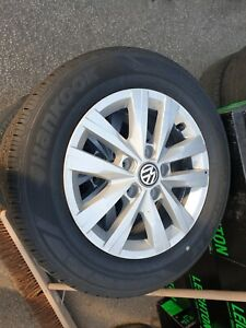 VW VOLKSWAGEN TRANSPORTER T6 T6.1 16 INCH ALLOY WHEELS AND TYRES DELIVERY MILES