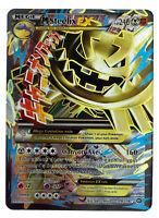 Steelix 109/114 Gold Mega EX Card Pokemon Collection Plastic Card Free 2 EX