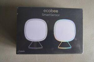 Ecobee SmartSensor Room Temperature Sensor - 2 Pack, White - New