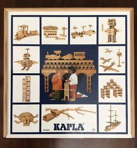 KAPLA Box of 100 Original Wooden Building Blocks - Used, In Excellent Condition