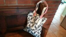Radley black dog ladys canvas tote shopping bag new with tags. Rare print