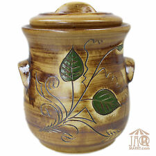 Rumtopf Keramik - Einlegetopf  - Gärtopf - Topf mit Deckel - Vorratstopf 2,5 L