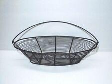 "Contemporary Black Wire Basket Home Decor Oval 15"" x 6"" x 3.5"""
