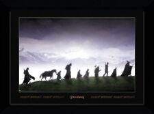 Señor De Los Anillos beca Hobbit Legolas Frodo 50x70cm enmarcado impresión de coleccionista