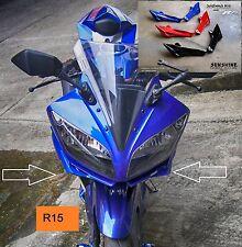 Yamaha YZF R15 Aerodynamic Winglets Moto GP Spoiler Race Fins Windshields Frame