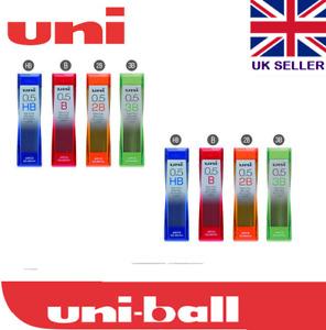 Uni Nano Dia 0.5mm tubes Automatic Pencil Leads Grade HB/B/2B(40 leads per tube)