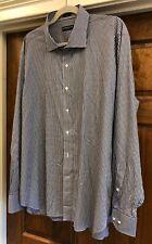 Peter Millar Collection Men's L/S Button Black & White Checkered  Shirt Size XXL