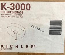 Kichler Slope Ceiling Adapter, hangstraight Canopy Set K-3000 POLISHED BRASS