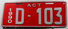 Nummernschild Australien ACT Canberra Dealer/Händler 1990 genutzt. 11989.