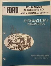 "Ford 42"" & 50"" Rotary Mower Operator Manual 12p Jacobsen Tube Frame Tractor Lawn"