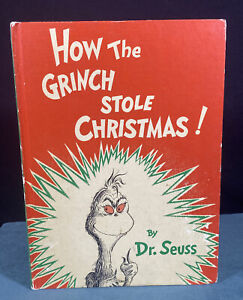 1957 How the Grinch Stole Christmas 1st Edition Book by Dr Seuss