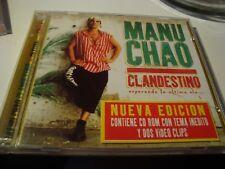 RAR 2 CD'S. MANU CHAO. CLANDESTINO. CD ROM CON TEMA INÉDITO