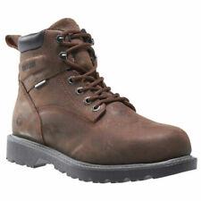 "Wolverine Men's 6"" Floorhand Steel Toe Waterproof Work Boots W10633 Dark Brown"
