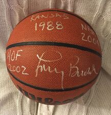 Coach Larry Brown Signed NCAA Basketball Autographed Hof 2002