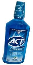 1 ACT Restoring Anticavity Fluoride Mouthwash Rinse 33.8 oz Rebuild Tooth Enamel