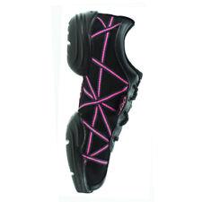 Capezio DS19 Dance Web Sneaker Pink Patent Reflective All Sizes UK 6 (euro 39) Black/pink