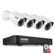 ZOSI 8CH 1TB 720P CCTV Camera Security System 1080N Outdoor IR Night Vision DVR