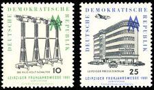 EBS East Germany DDR 1961 Leipzig Spring Fair Michel 813-814 MNH**