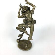 Metal Sculpture Jester Clown Figurine Brass Tone Finish Vintage