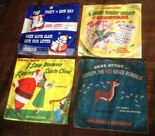 Gene Autry, Jimmy Boyd, Rudolph The Red-Nosed Reindeer 78 RPM LOT OF 4