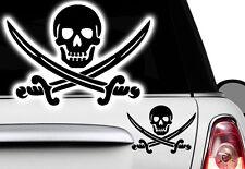 1x Piratas Black Pearl Ninja MOTOCICLETAS COCHE Pegatina JDM OEM DUB Adhesivo
