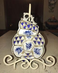 Fine Antique KPM 19 Ct Porcelain Gilt Hand Painted Demitasse Cup & Saucer Set