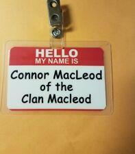 Highlander TV ID Badge -Connor MacLeod of the clan Macleod prop cosplay costume