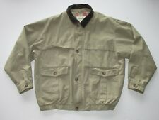 Eddie Bauer Khaki Cotton Zip Front Flannel Lined Jacket Men's Med. T5