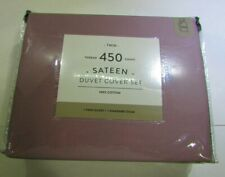 450-Thread-Count Cotton Sateen Duvet Cover Set - Lilac - Size: Twin