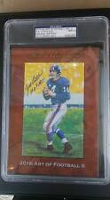 016 HA  Art of Football Goal Line YA TITTLE New York GIANTS HOF PSA 9 AUTO 9/35